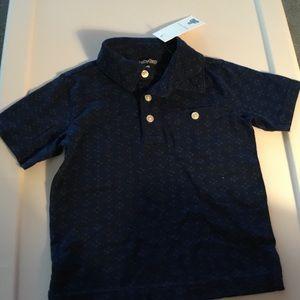 Gap Boy Navy 3.Button Short Sleeve Shirt 18-24m